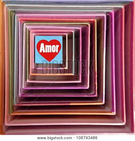 Heart in a box - Love concept - Amor