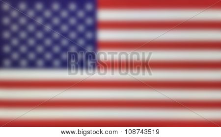 Blurred background of the United States US Flag