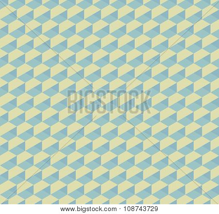 Hex 3D Geometric Vintage Seamless Pattern Background