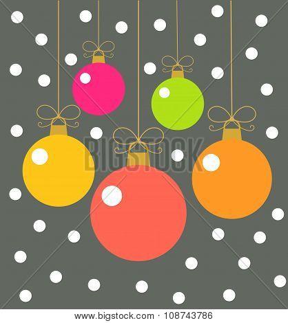 Christmas Balls Card