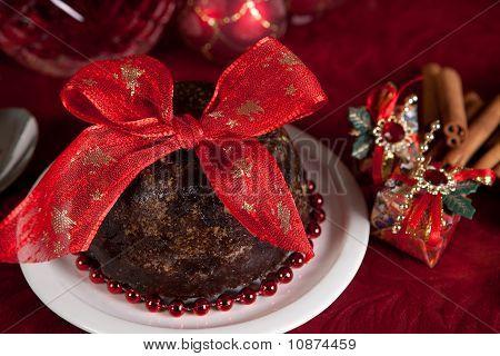 Christmas Pudding With Bow