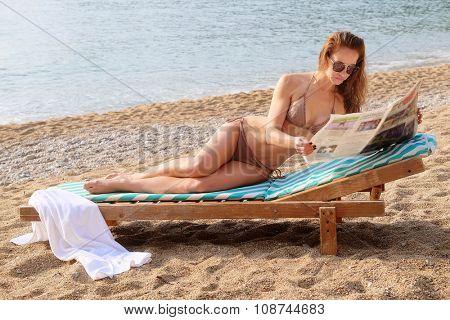 Portrait of a girl on a beach