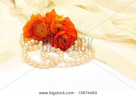 Flowers And Pearls - Background