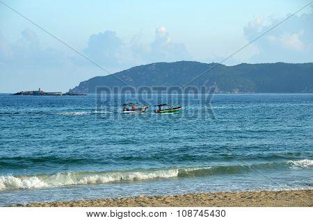 Boating On Hainan Island China, Hainan; Sanya, Yalong Bay, May 2011