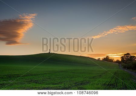 Flodden Field At Sunset