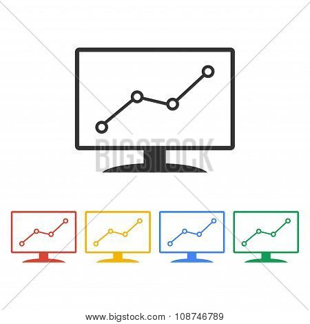 Computer Monitors With Different Graphs,