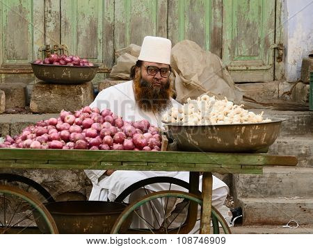 Street Sellers Of Vegetables In India