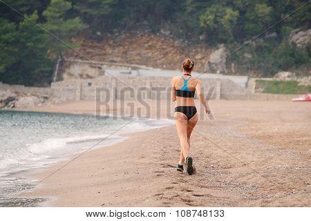 The image of training girl athlete
