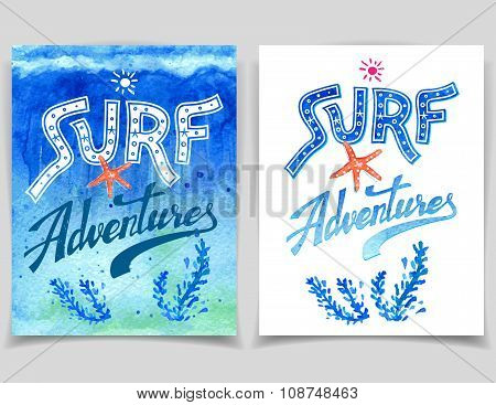 Surf Adventures Watercolor Cards