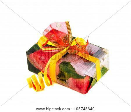 Gift Box Isolated Over White.
