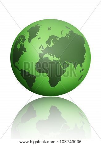 Green World Atlas Globe