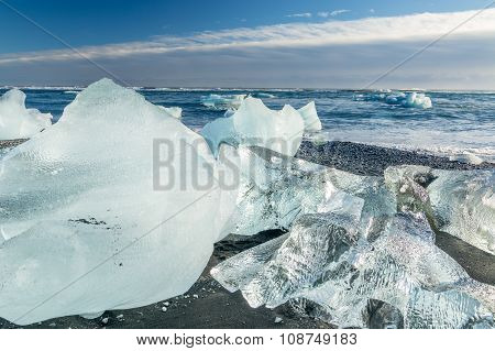 Jokulsarlon Glacier Lagoon And Beach
