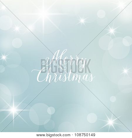 Christmas card - decoration, greetings card. Elegant snowy, frosty background.