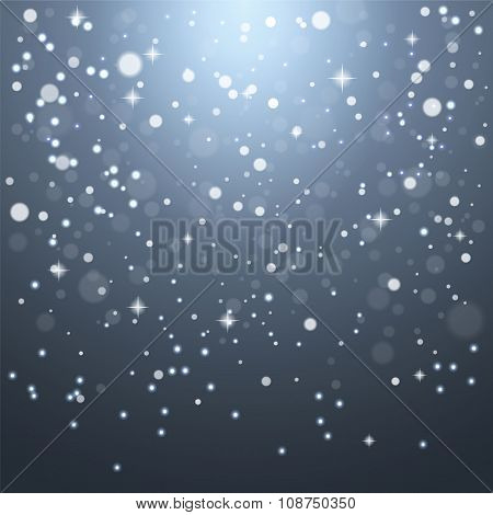 Christmas snowflakes on a gray background.
