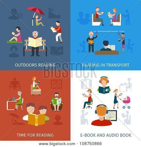 People Reading Set