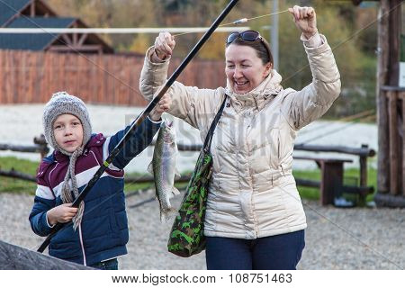Boy Caught Trout, Grandmother Rejoices