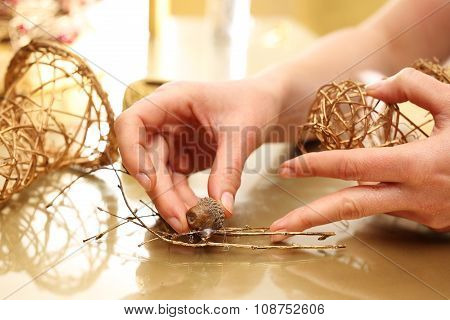 Christmas decoration, golden bells