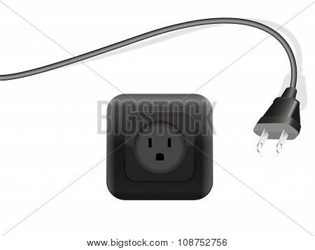 Plug Outlet Black