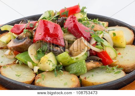 Mixed Cooked Vegetables On A Plate