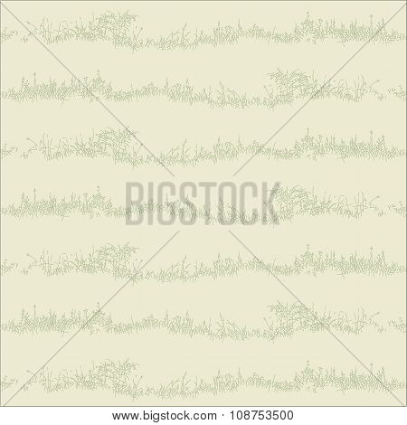 Seamless background with herbal motif
