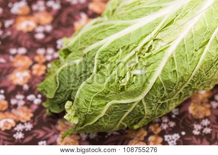 Ripe Foliage Of Chinese Cabbage