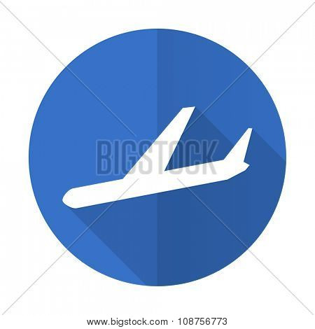 arrivals blue web flat design icon on white background