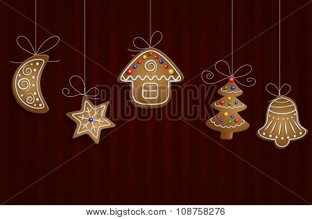 Gingerbread Man Tree And Stars