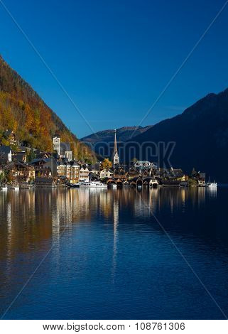 Buildings In Hallstatt During The Day In The Autumn