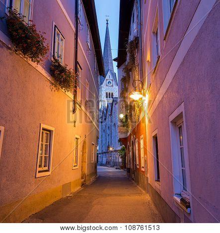 Streets Of Hallstatt In The Morning