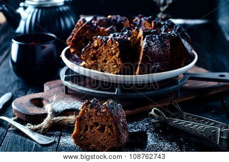Cake With Jam And Chocolate