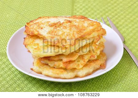 Fried Courgette Pancakes