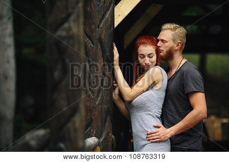 guy hugging his girlfriend