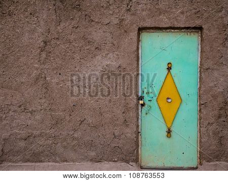 Colorful Moroccan Door In A Kasbah