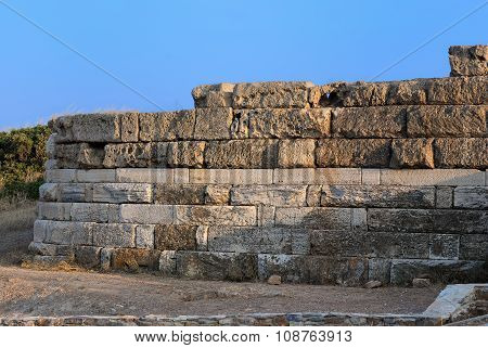 Part of ancient wall.