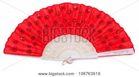 Red Spanish Fan Isolated