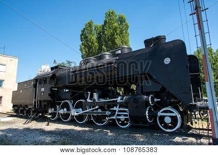 Old Steam Engine On Display