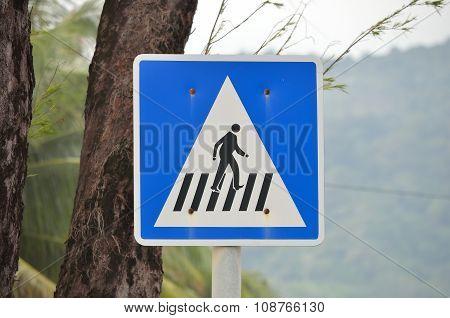 Cross Walk Sign.