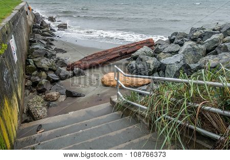 Alki Shoreline - Steps