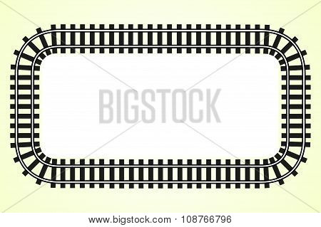 Locomotive Railroad Track Frame Rail Transport