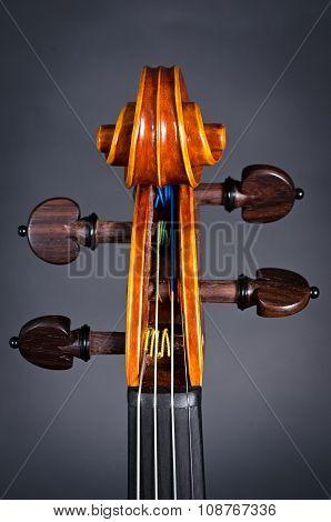 wooden violin head