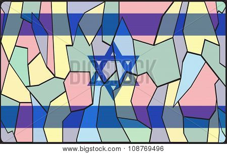 Israel Flag Stained Glass