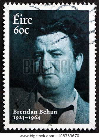 Postage Stamp Ireland 2014 Brendan Behan, Irish Poet