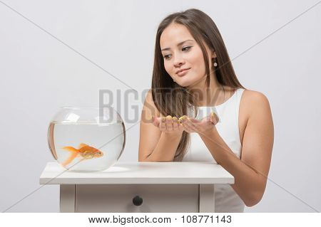 She Asks Goldfish Fulfill The Desire