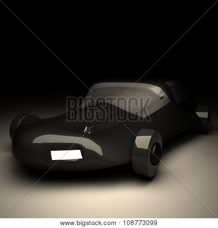 Futuristic Black Car