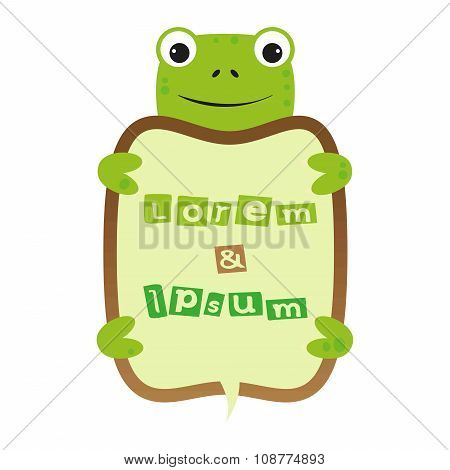Cartoon Turtle Self Frame animal border