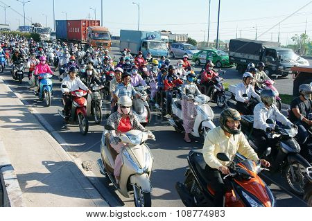 Crowded, Vietnam, Asia ctiy, vehicle, exhaust fumes,