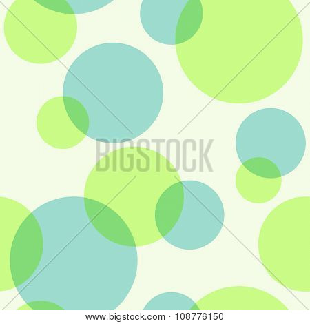 Seamless green pattern with piling circles