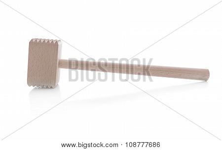 For meat a wooden mallet.