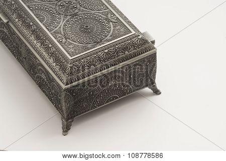 Decorative Metalwork Cutlery Box