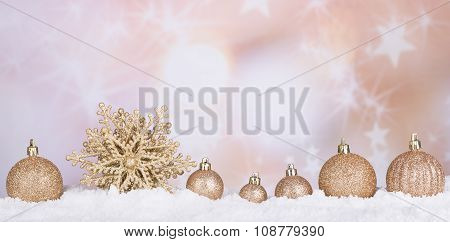 Gold Christmas Bauble And Star